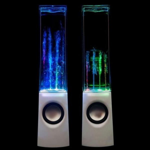 Колонки с водяной светомузыкой. Вид 1