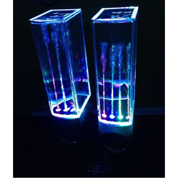 Колонки с водяной светомузыкой. Вид 3