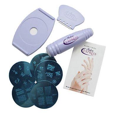 Набор для печати на ногтях в домашних условиях Salon Express. Вид 4
